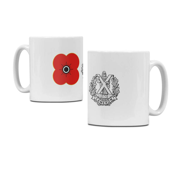 popyscotland queens own cameron highlanders regimental mug M09