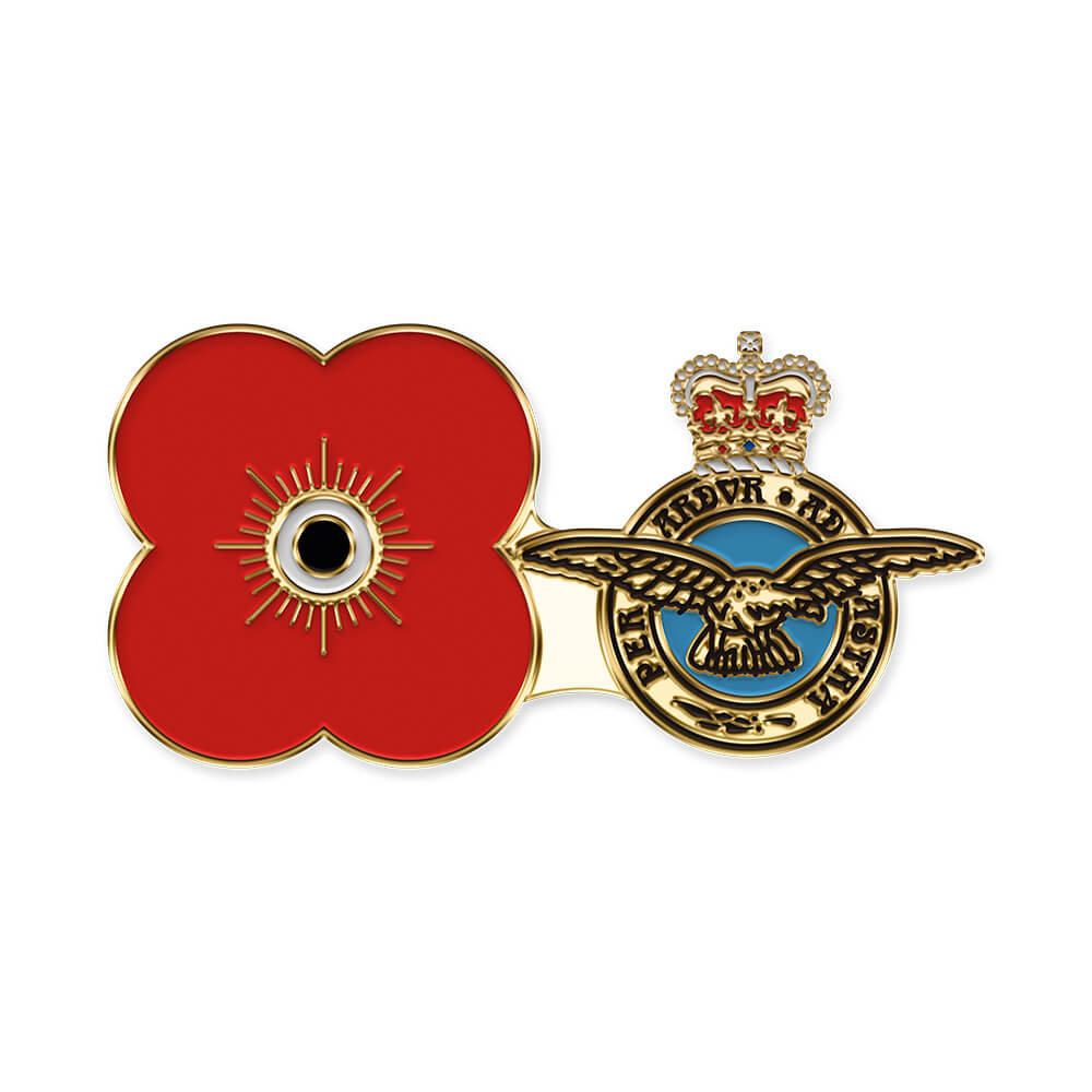 poppyscotland royal air force pin badge r12