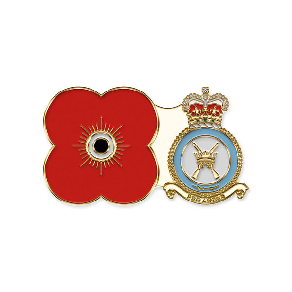 poppyscotland royal air force regiment pin badge r15