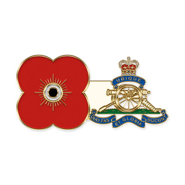 poppyscotland royal artillery pin badge