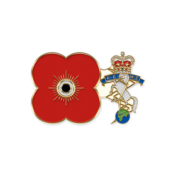 poppyscotland royal electrical & mechanical engineers pin badge r19
