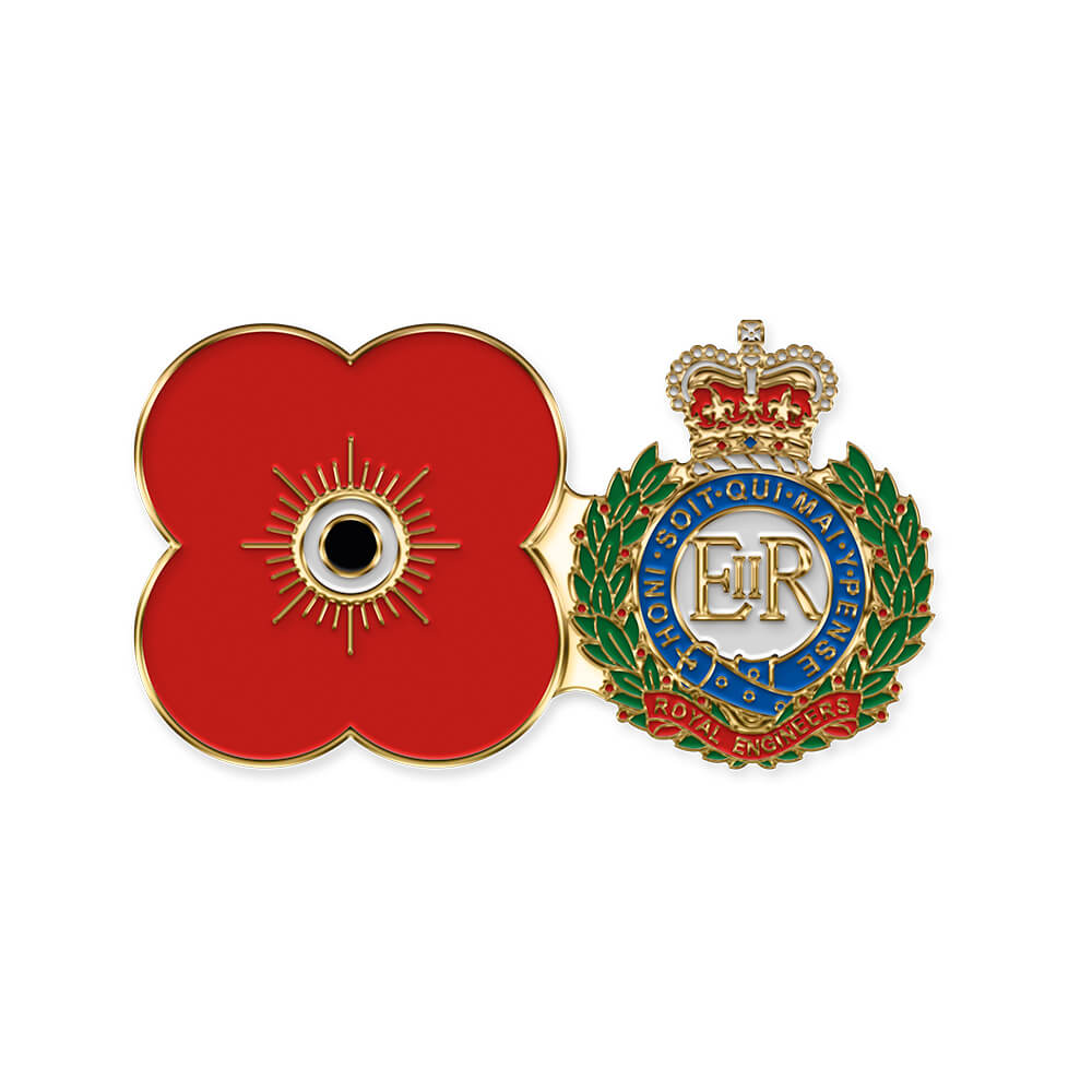 poppyscotland royal engineers pin badge r05
