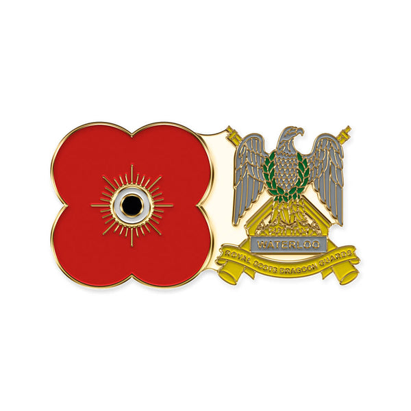 poppyscotland royal scots dragoon guards pin badge 06