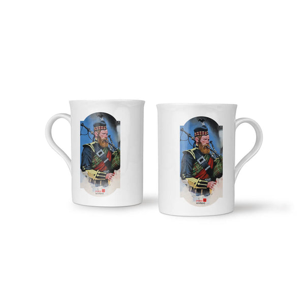 poppyscotland scotland remembers piper china mug