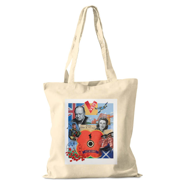 poppyscotland scotland remenbers cotton shopper bag