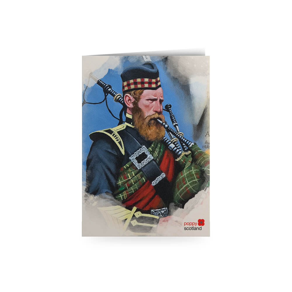 poppyscotland scotland remembers piper greetings card craig campbell
