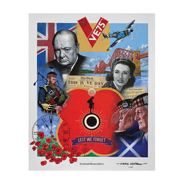 poppyscotland scotland remembers limited edition print craig campbell