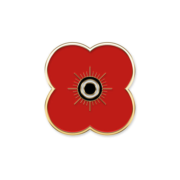 poppyscotland single poppy pin badge 20A gold