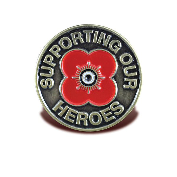 Poppyscotland Supporting Our Heroes Brass Pin Badge
