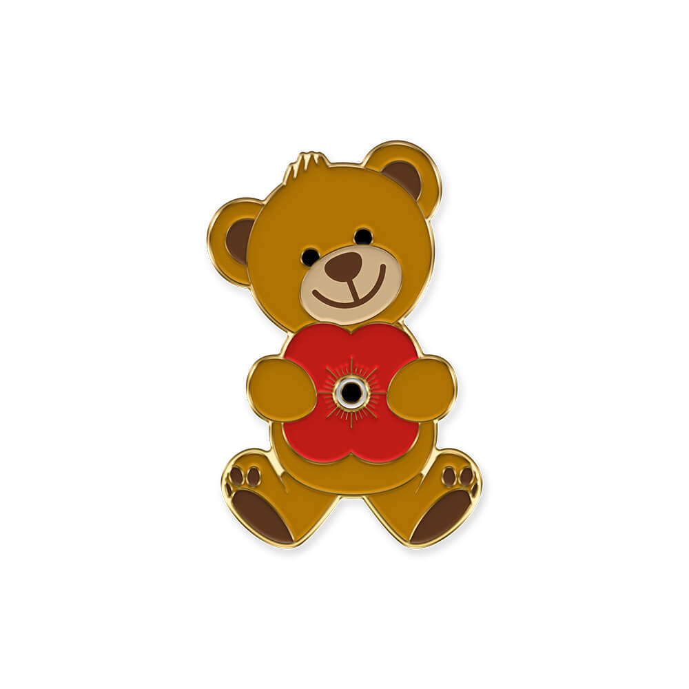 poppyscotland teddy bear pin badge 20N