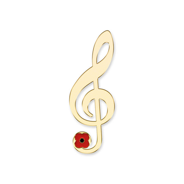 poppyscotland treble clef pin badge 20Q