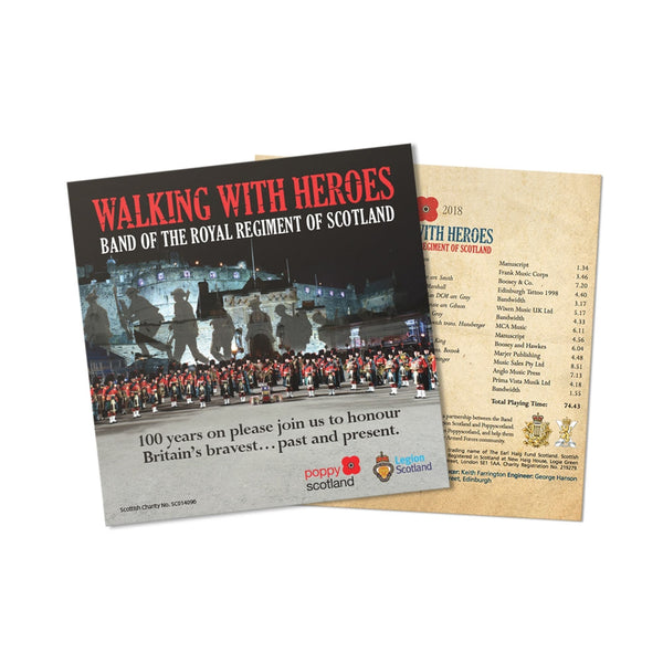 Walking with Heroes CD. Band of the Royal Scottish Regiment.