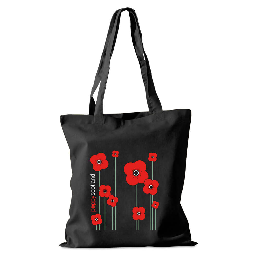 poppyscotland black cotton shopper