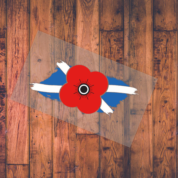 Poppyscotland Saltire Window or Bumper Sticker