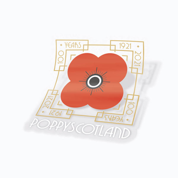 poppyscotland 100 years of poppy vinyl sticker