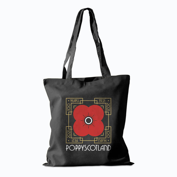 poppyscotland 100 years of poppy cotton shopper bag