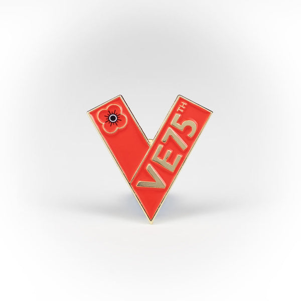Poppyscotland V for Victory Pin Badge