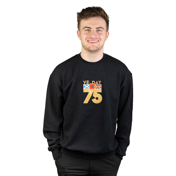 Poppyscotland Embroidered VE Day Sweatshirt