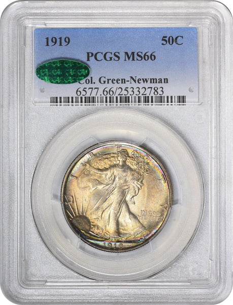1919 50C MS66 PCGS CAC ex. Col. Green-Newman - ParadimeCoins