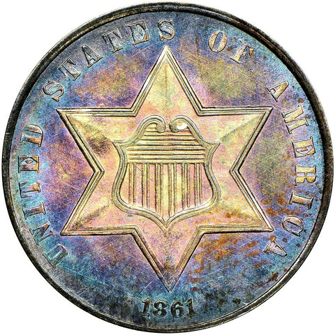 1861 3CS MS67 NGC CAC - ParadimeCoins