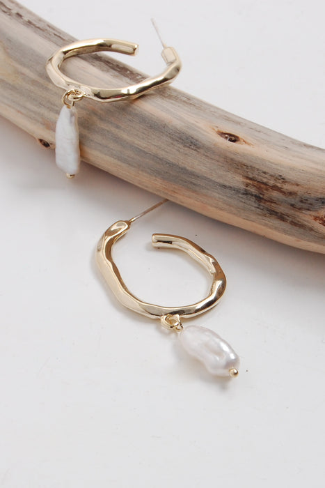 Isla - Drop Pearl Earrings - Malaia Jewelry