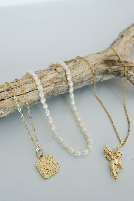 Amihan -Pearl Necklace Set - Malaia Jewelry