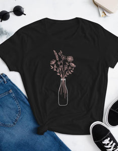 Milk bottle bouquet - Flower Graphic Women's T-Shirt