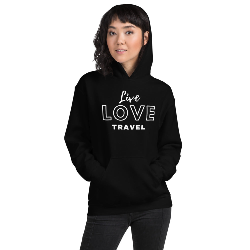 Live Love Travel - Outdoor Adventure Unisex Hoodie