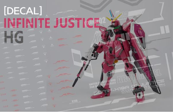 HG Infinite Justice Water Decal