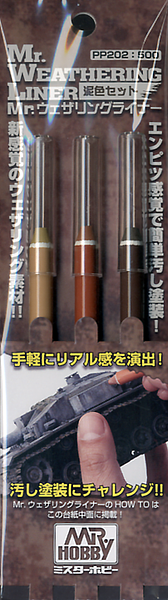 MR. Weathering Liner Mud-Color Set