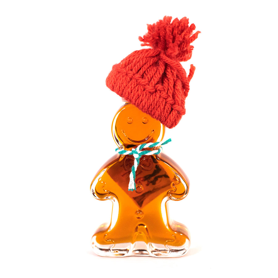Glass Gingerbread Man Maple Syrup