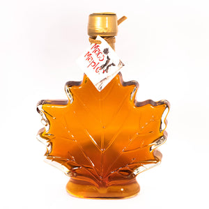 Glass Maple Leaf Maple Syrup