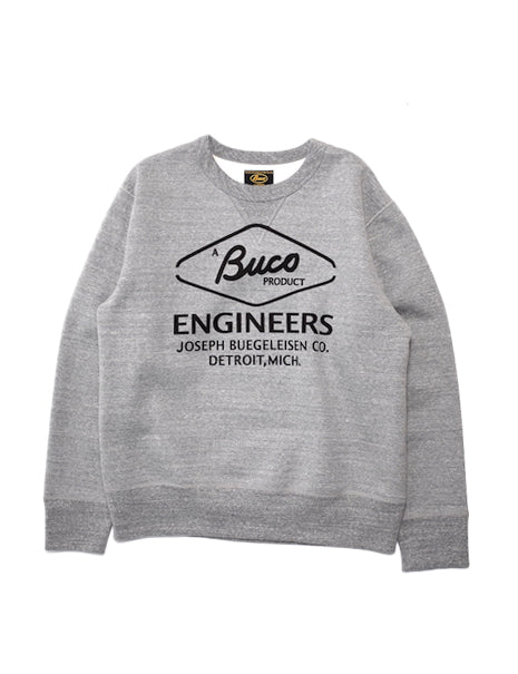 Buco Engineer Sweatshirt in Grey-Layers-The Real McCoy's-General Quarters