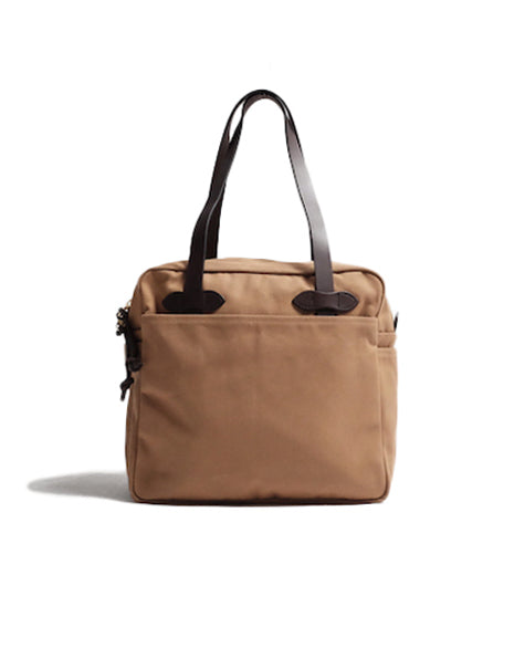 Zippered Tote in Tan