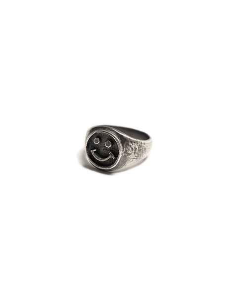 Happy Face Ring in Sterling Silver