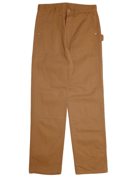 8HU Canvas Double Knee Trousers in Brown