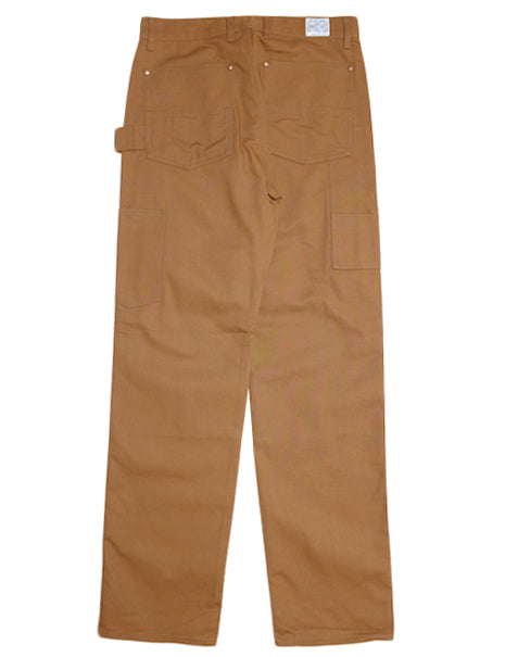 8HU Canvas Double Knee Trousers in Brown-Pants-The Real McCoy's-General Quarters