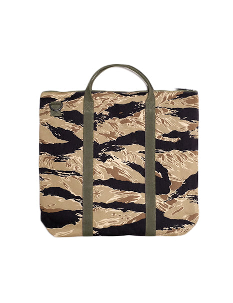 Tiger Camo Helmet Bag in Gold Tone