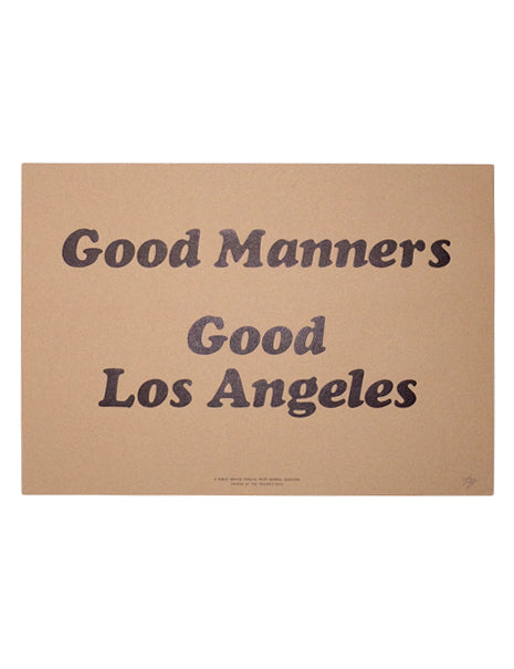 Good Manners Print-Household-Printer's Devil x General Quarters-General Quarters