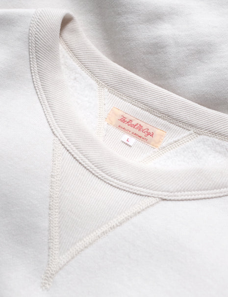 Loopwheel Sweatshirt in White-Layers-The Real McCoy's-General Quarters