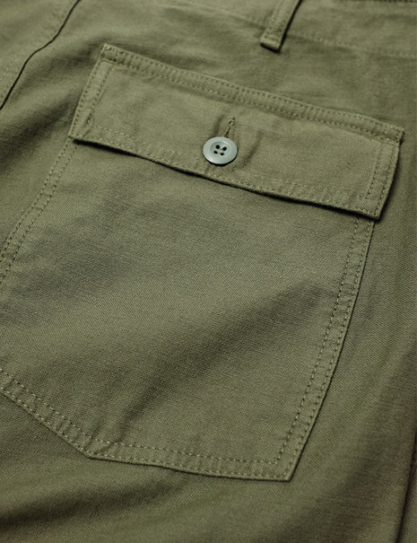 Tellason Fatigue Pant in Olive Sateen
