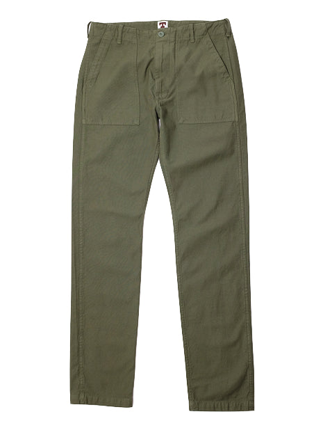 Fatigue Pant in Olive Sateen-Pants-Tellason-General Quarters
