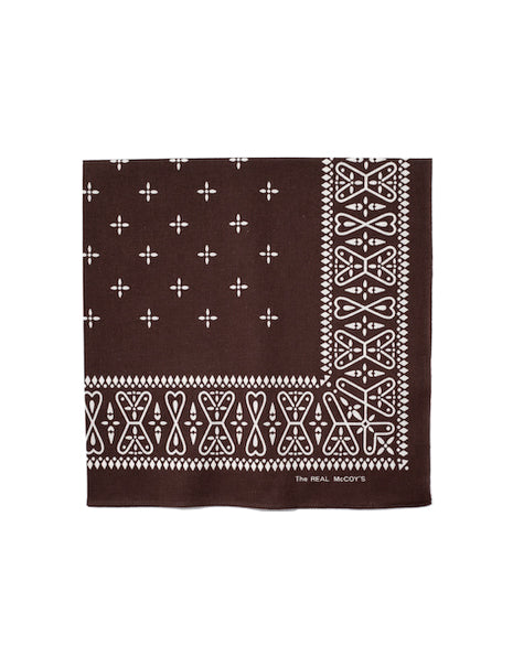 Cross Bandana in Brown-Accessories-The Real McCoy's-General Quarters