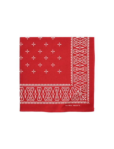 Cross Bandana in Red-Accessories-The Real McCoy's-General Quarters