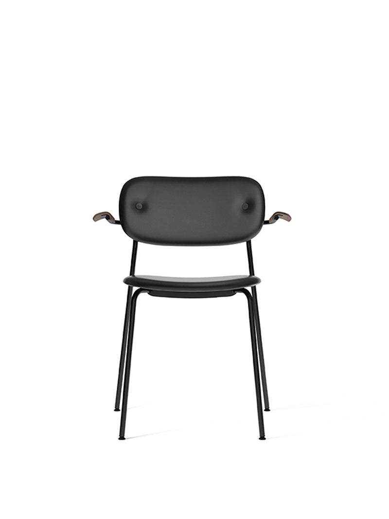 Co Chair, fully upholstered with armrest, Black