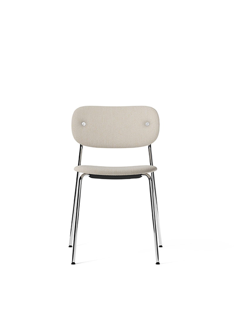 Co Chair, fully upholstered, Chrome