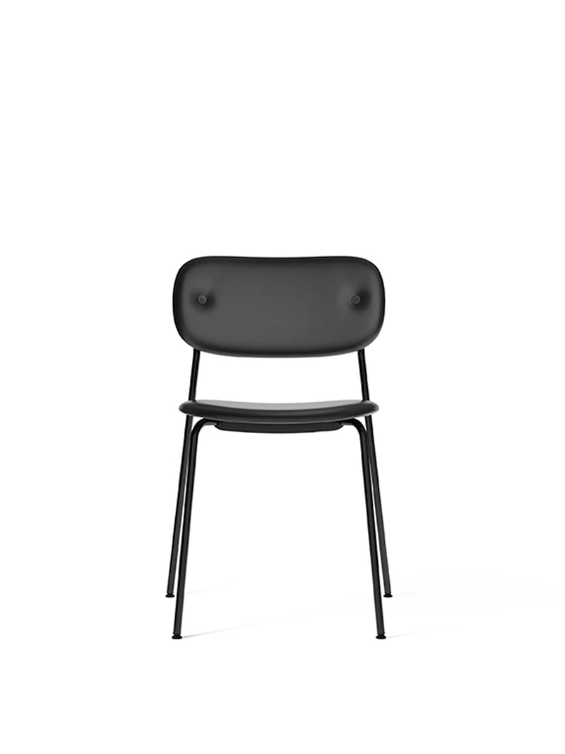 Co Dining Chair, fully upholstered, Black