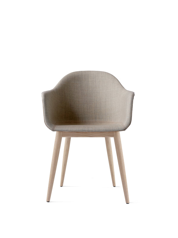 Harbour Dining Chair, Wooden Base, upholstered