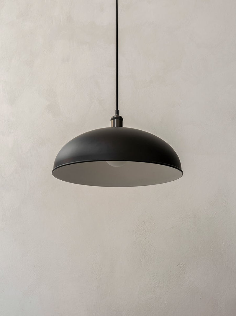 Tribeca Hubert Pendant, 17in-Pendant-Soren Rose Studio-Black/Bronzed Brass-menu-minimalist-modern-danish-design-home-decor