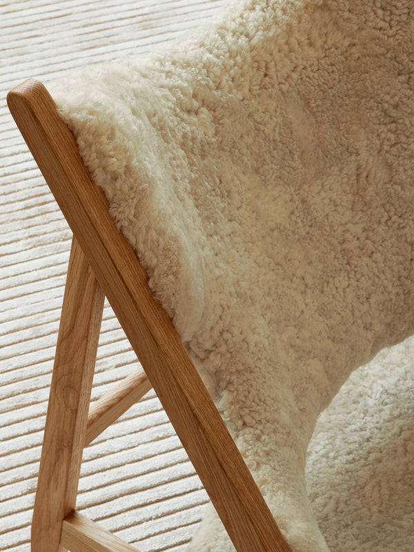 Knitting Lounge Chair, Sheepskin